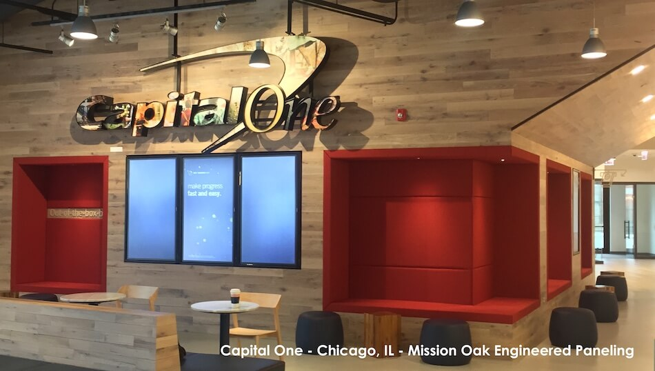 Capital One Chicago - Reclaimed Oak Paneling