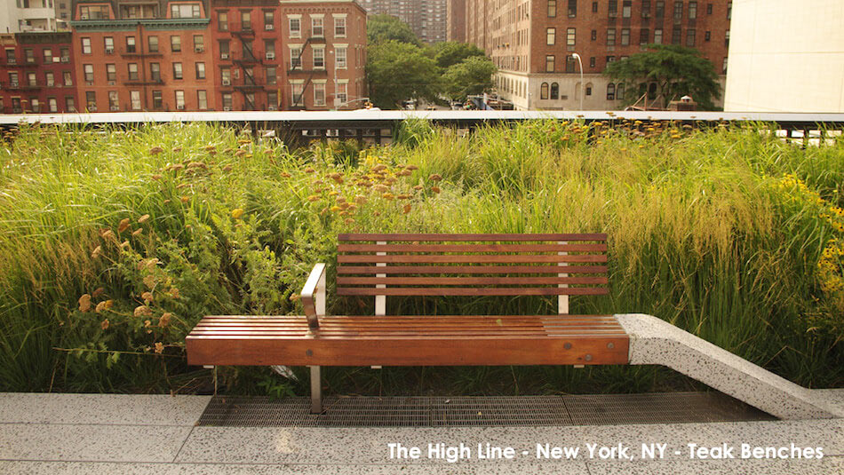 The High Line New York - Reclaimed Teak Benches