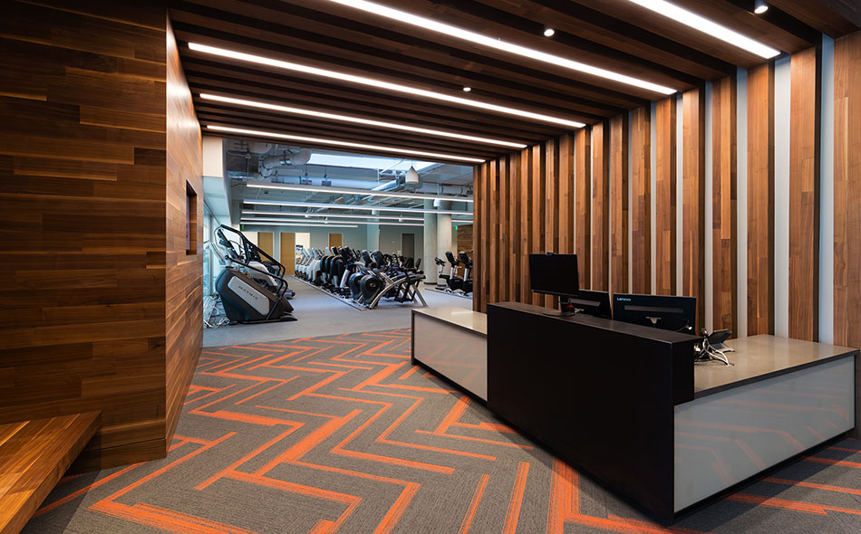 Reclaimed Walnut Paneling at Toyota's new Plano, Texas Headquarters