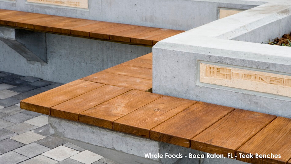 Whole Foods Boca Raton - Reclaimed Teak Benches
