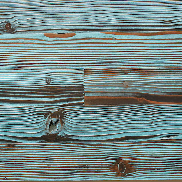 Reclaimed Doug Fir Paneling - Blue
