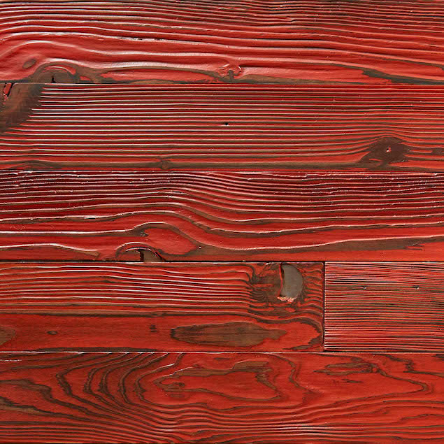 Reclaimed Doug Fir Paneling - Red