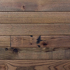 Reclaimed Solid Oak Shiplap Paneling - Dark Oil Finish