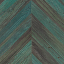 Reclaimed Redwood Chevron Paneling - Copper Patina Finish