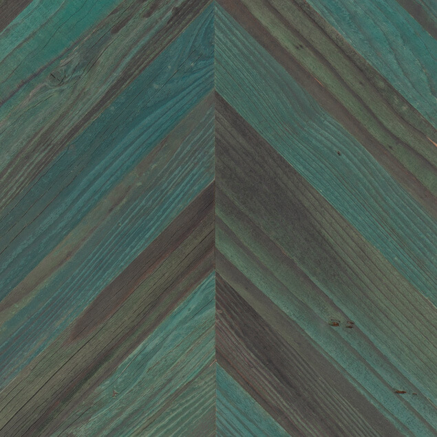 Reclaimed Redwood Chevron Paneling
