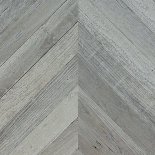 Reclaimed Redwood Chevron Paneling