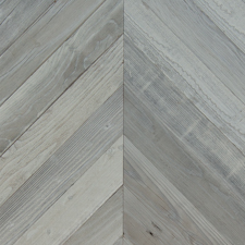Reclaimed Redwood Chevron Paneling - Fog Finish