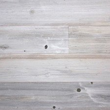 Reclaimed Redwood Paneling in Gray & White Fog Finish