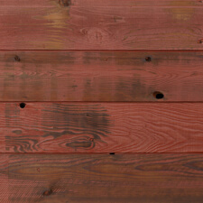 Reclaimed Lost Coast Redwood Siding with Barn Red Finish