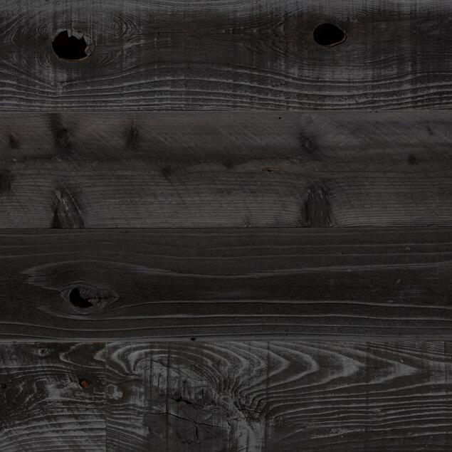 Reclaimed Redwood faux sugi ban paneling
