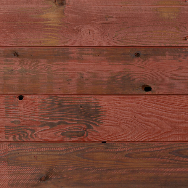 Reclaimed Redwood Siding - Burnished Red