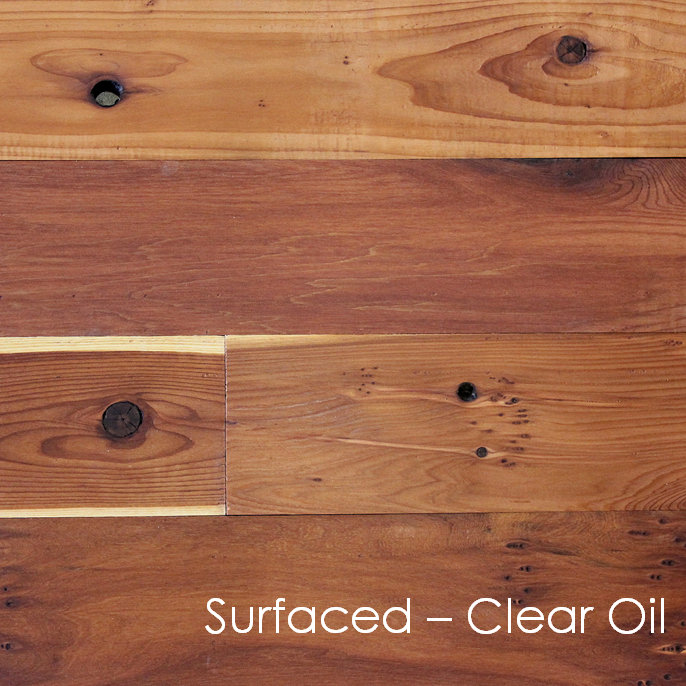 Reclaimed Redwood Paneling with Surfaced Finish