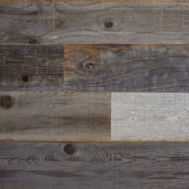 Thin Reclaimed Weathered Redwood Paneling