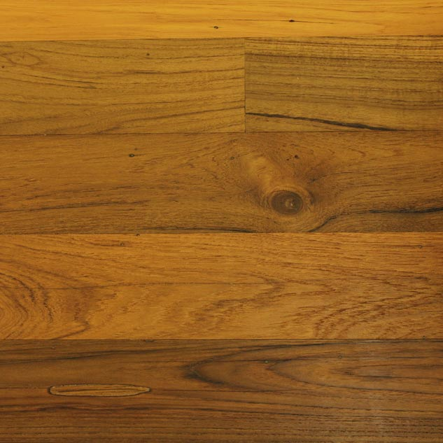 Teak Engineered Paneling with Clear Oil Finish
