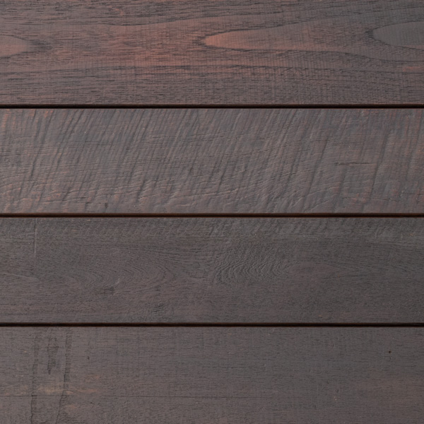 Reclaimed Teak Siding with Black Oil