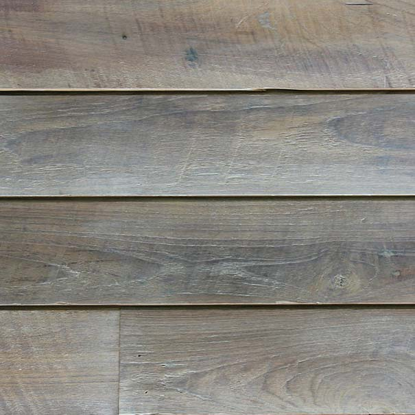 Reclaimed Teak Siding with White Oil