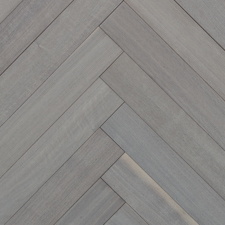 Reclaimed Walnut Herringbone Paneling with Oyster Wash Finish