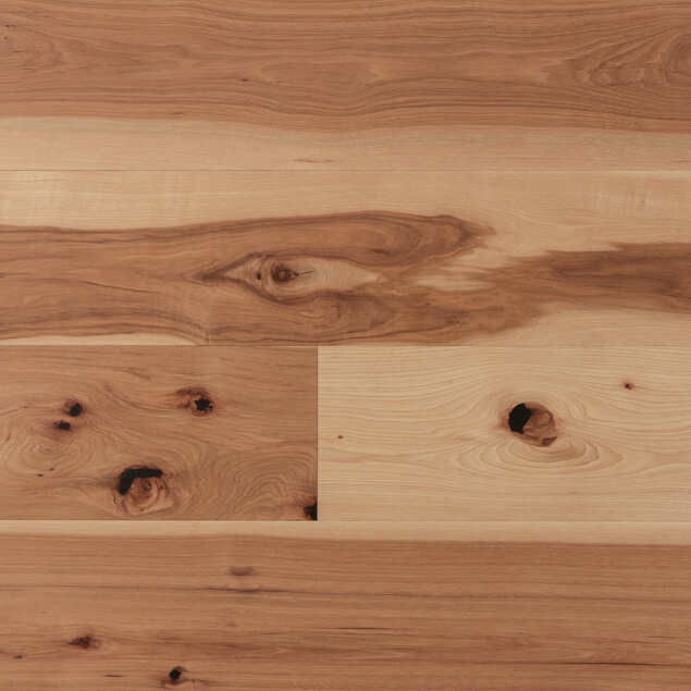 Wide Plank Hickory - Clear Oil
